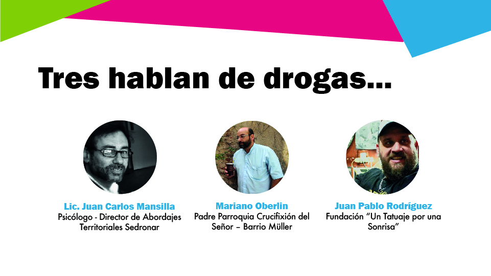 """26 de junio - Charla """"Tres hablan de drogas"""""""